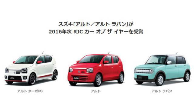RJC CAR OF THE YEAR受賞車