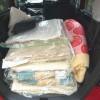 軽自動車に積んだ荷物の量