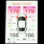 TPMSの空気圧表示