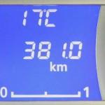 デイズの燃料計(ガス欠寸前の状態)
