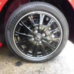 タイヤワックス施工後のタイヤ
