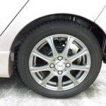 155/65R14サイズのスタッドレスタイヤを装着した状態