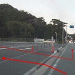 SHOPPING PLAZA HAYAMA STATION(葉山ステーション)の駐車場(進入口)