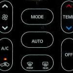 DAYZのタッチ式エアコンのスイッチ
