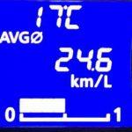 DAYZ 車載燃費計 表示