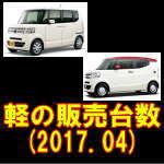平成29年4月 軽自動車(車種別)販売台数