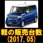 H29年 5月の軽自動車新規登録台数