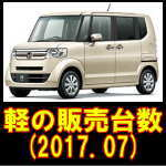 軽自動車の登録台数(2017.08)