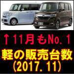 平成29年11月 軽自動車販売台数ランキング