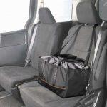 シートに固定できるショッピングバッグ