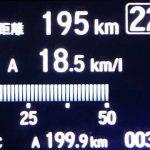 新型N-BOX 車載燃費計 表示
