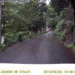 奥多摩の狭い道路
