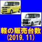 令和 元年 11月 増税後の軽自動車 登録台数