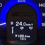燃費系表示値(フィットHV/GP1)